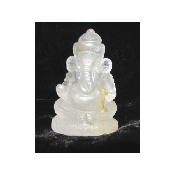 Ganesha kristály amulett 4*2-2,5cm