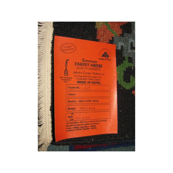 Meditációs szőnyeg nepáli mandala fekete