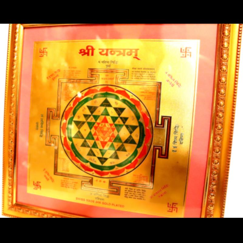 Sri Yantra kép aranyozott