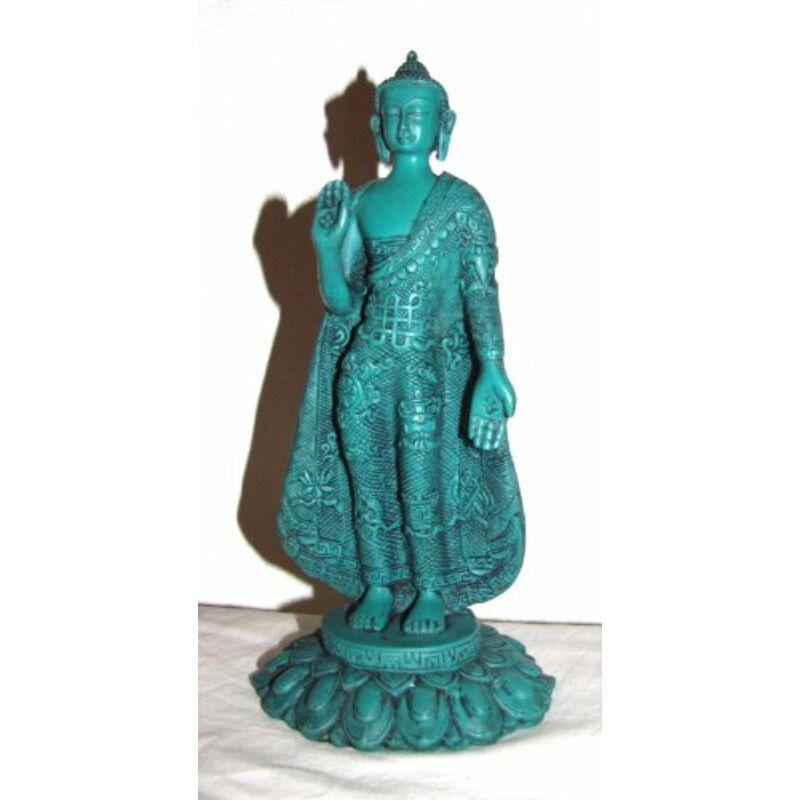 Buddha türkiz álló